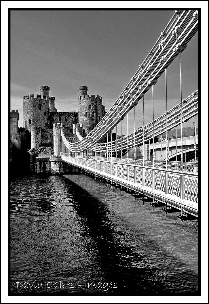 Conway Castle BW
