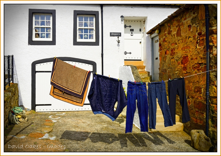 Crail, Fife.   Wash-day
