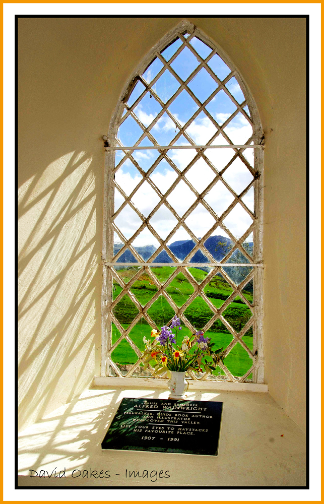 Wainwrights-Memorial-Window,-Buttermere-Church,-Cumbria