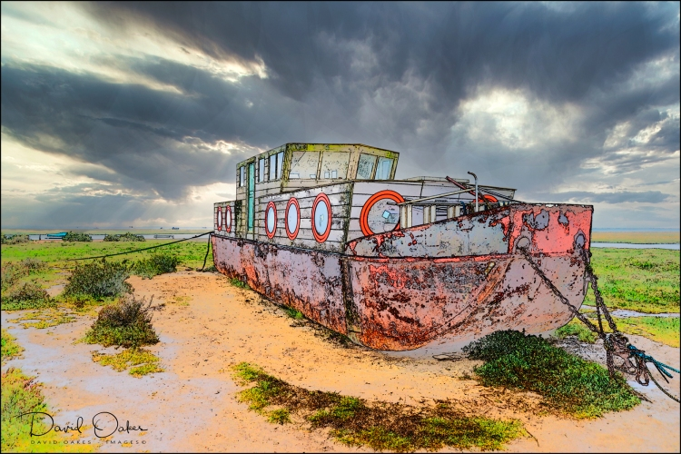 Cley,-Norfolk--House-Boat