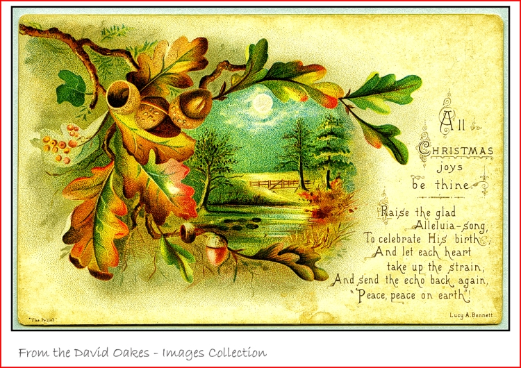 Oak-leaf-Christmas-card-Victorian