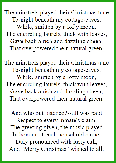 WORDSWORTH CHRISTMAS MINSTRALS